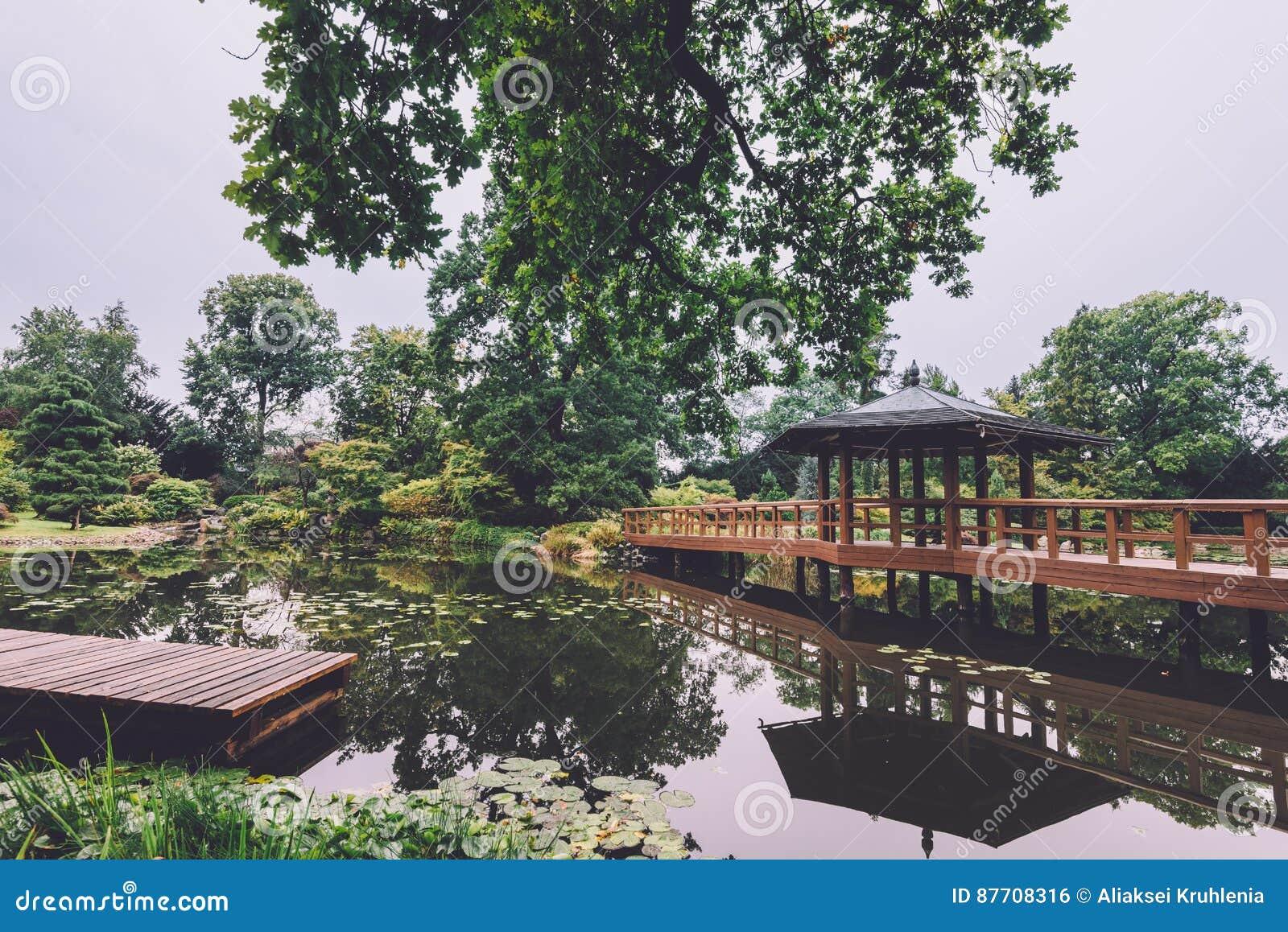 Jardin japonais à Wroclaw, Pologne