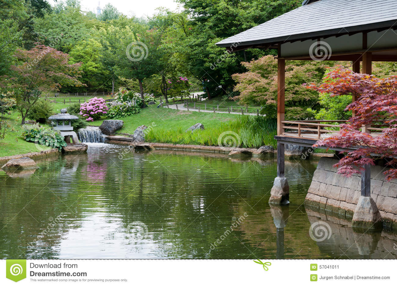 Construction Jardin Japonais jardin japonais image stock. image du landmark, construction - 57041011