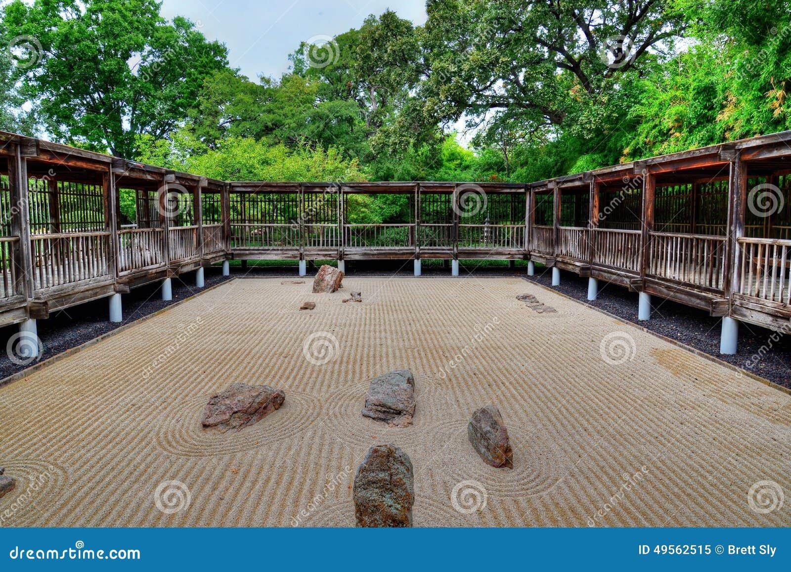 jardin japonais de sable et de roche photo stock image 49562515. Black Bedroom Furniture Sets. Home Design Ideas