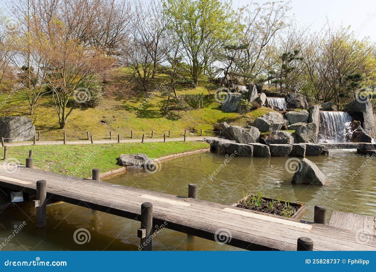 Jardin Japonais Hasselt Belgique Image Stock Image Du Silence