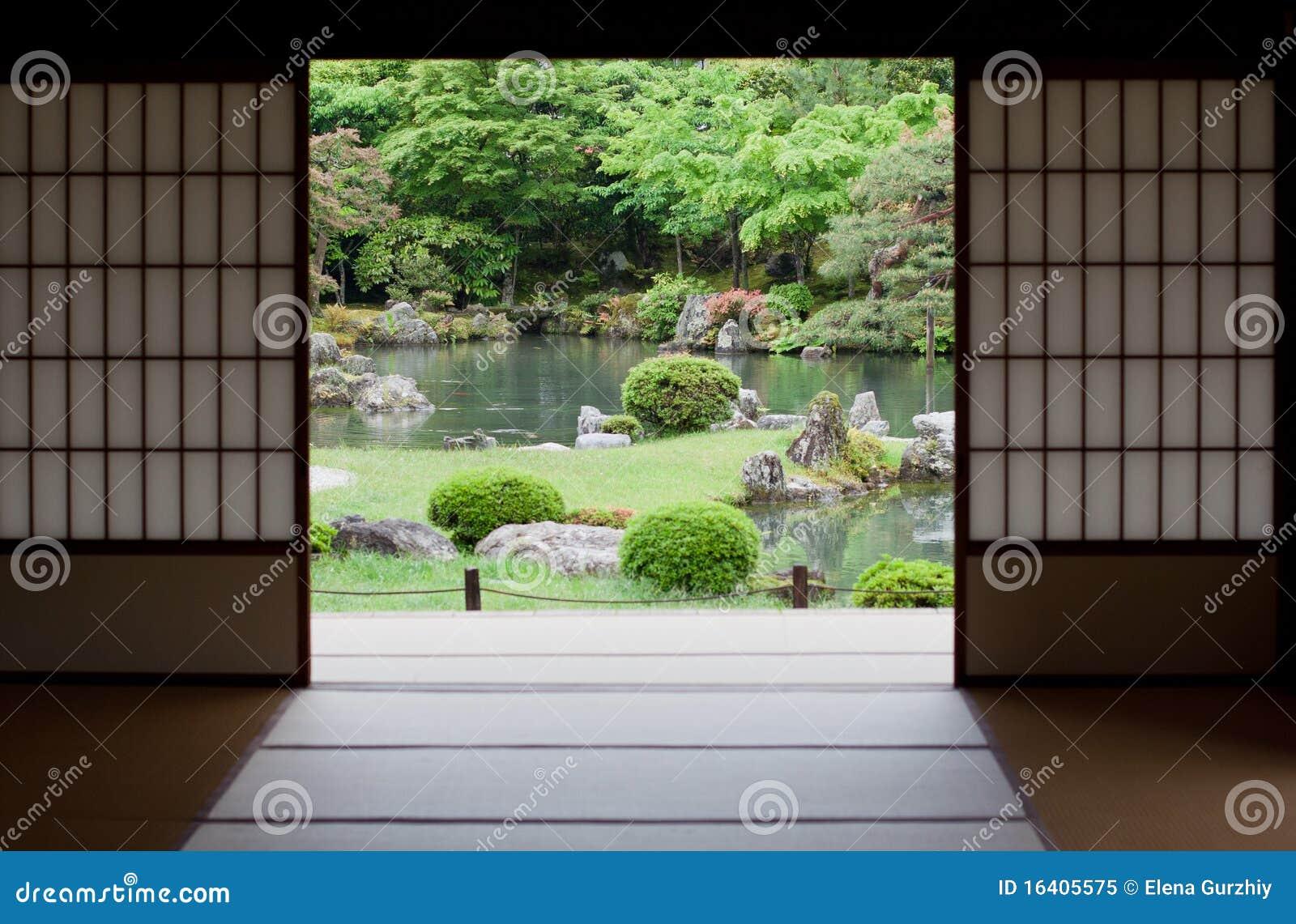 Jardin japonais kyoto japon photo libre de droits for Jardin kyoto
