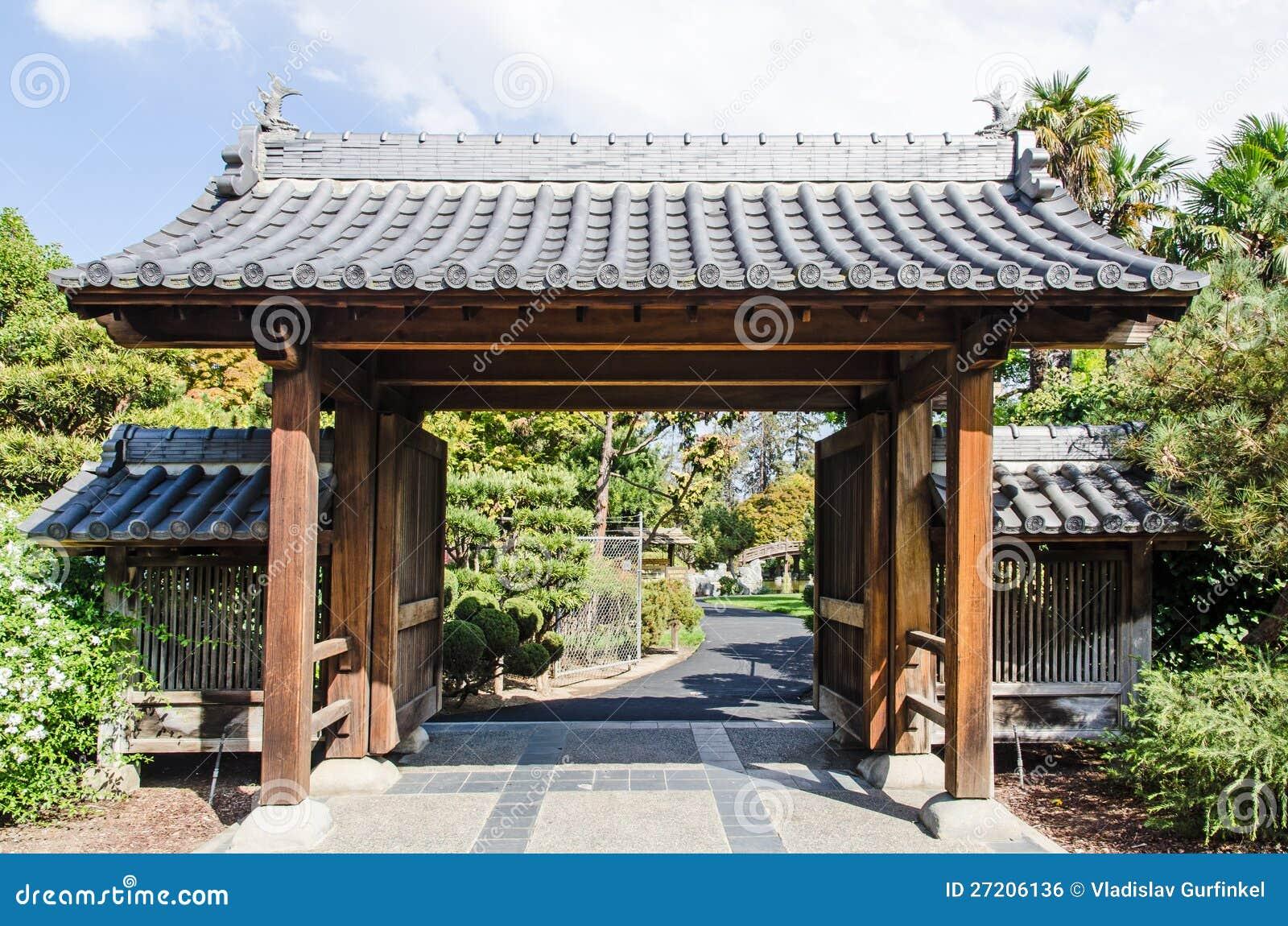 jardin japonais porte d 39 entr e image libre de droits image 27206136. Black Bedroom Furniture Sets. Home Design Ideas