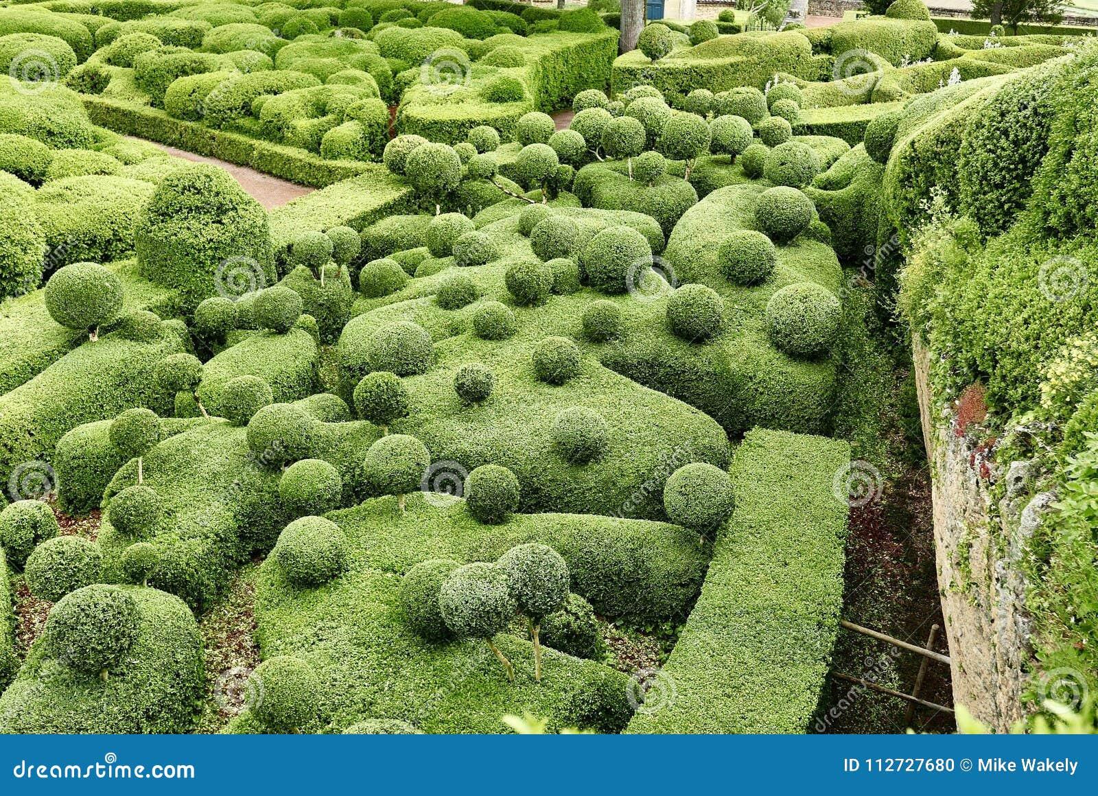 Jardin Marqueyssac Near La Roque Cageac In Dordogne Stock