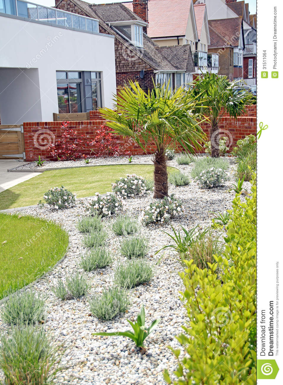 Jardin moderne exotique de zen images stock image 31511064 for Jardin moderne photo