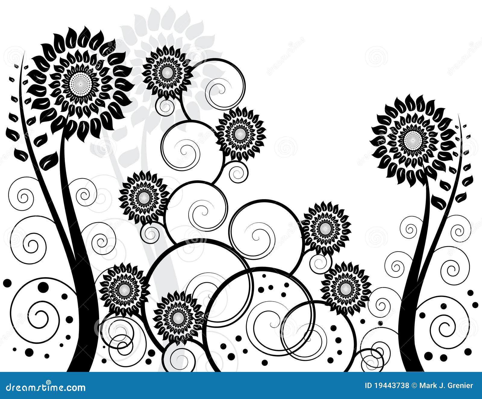 jardin noir et blanc photos libres de droits image 19443738
