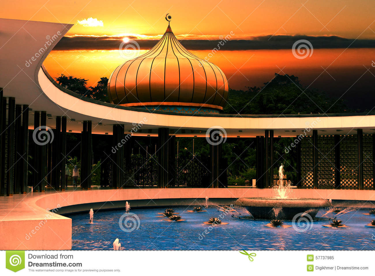Jardin oriental paisible photo stock image 57737985 for Jardin oriental