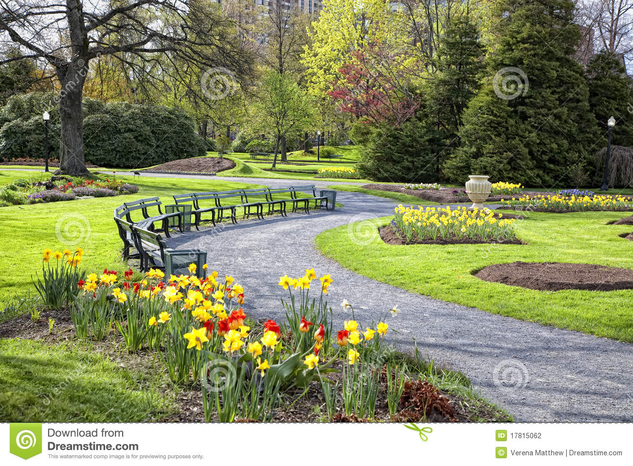 Jardin public de printemps photographie stock image for Jardin public