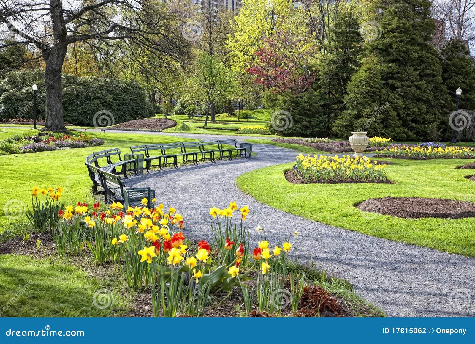 Jardin public de printemps photographie stock image for Jardin public