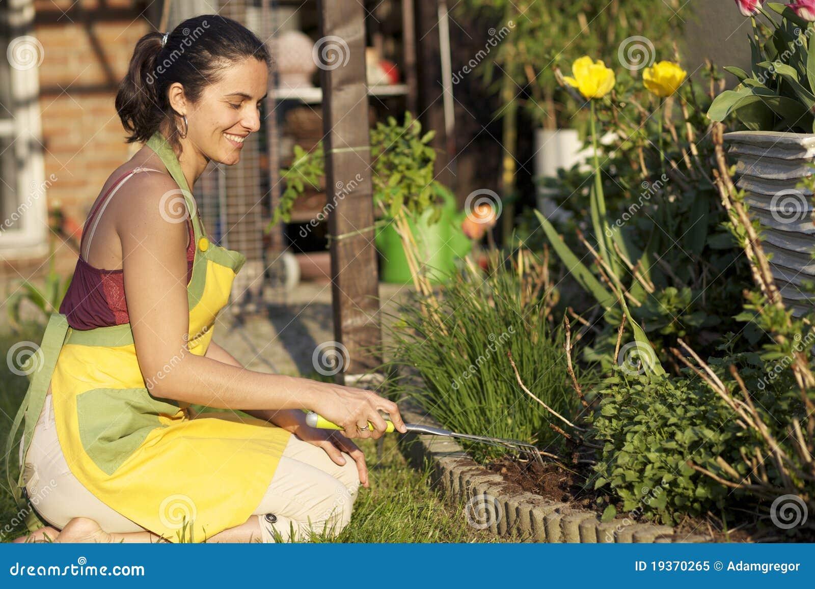 Jardinagem da mulher