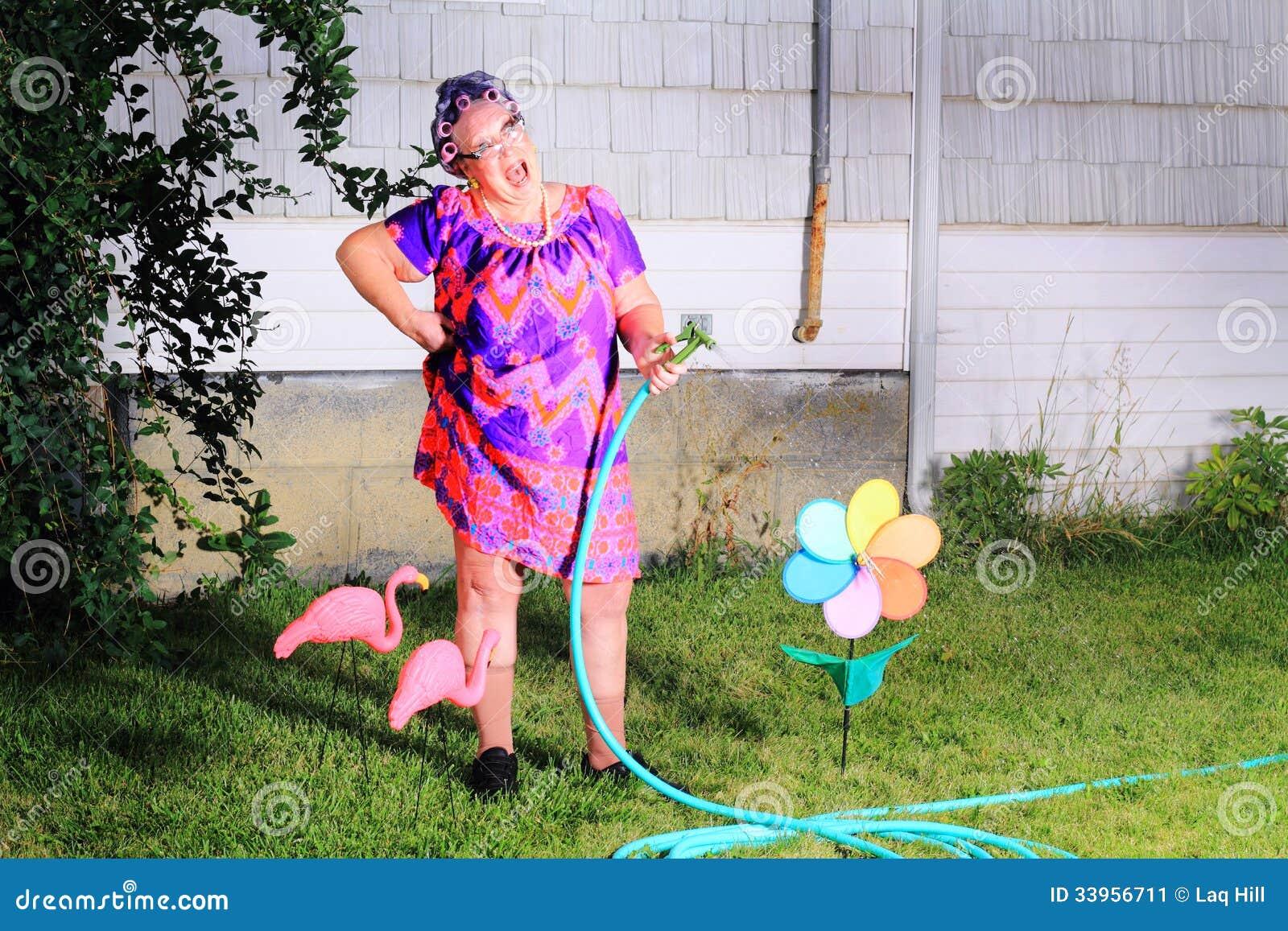 Jardineiro de riso Dorky da avó