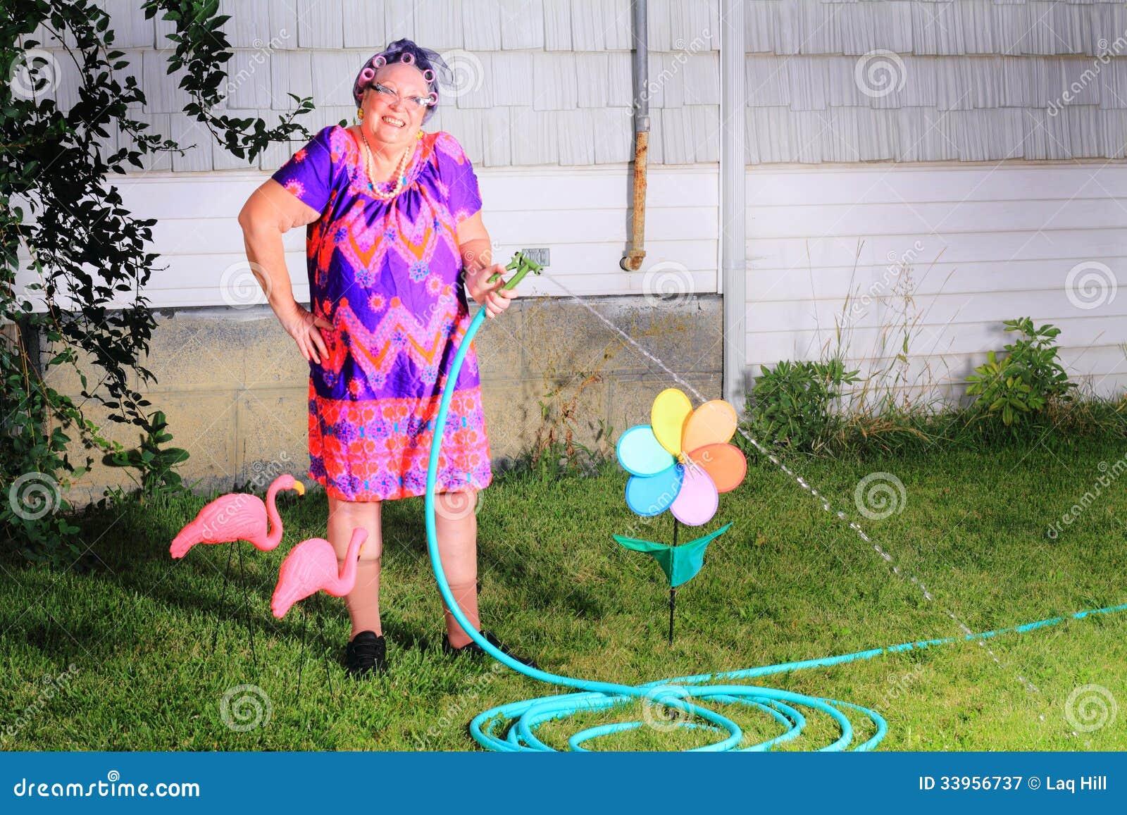 Jardineiro feliz parvo da avó