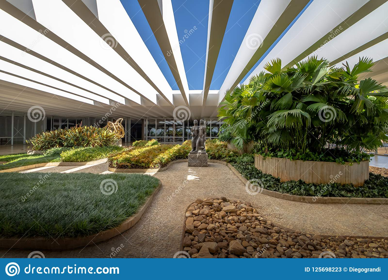 Jardines De La Terraza Del Palacio De Itamaraty Brasilia