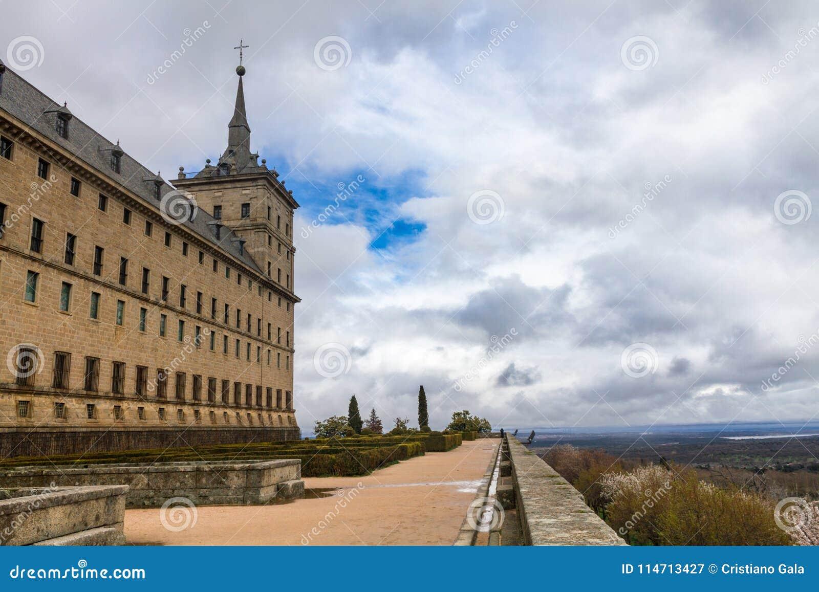 Jardines del EL Escorial del monasterio