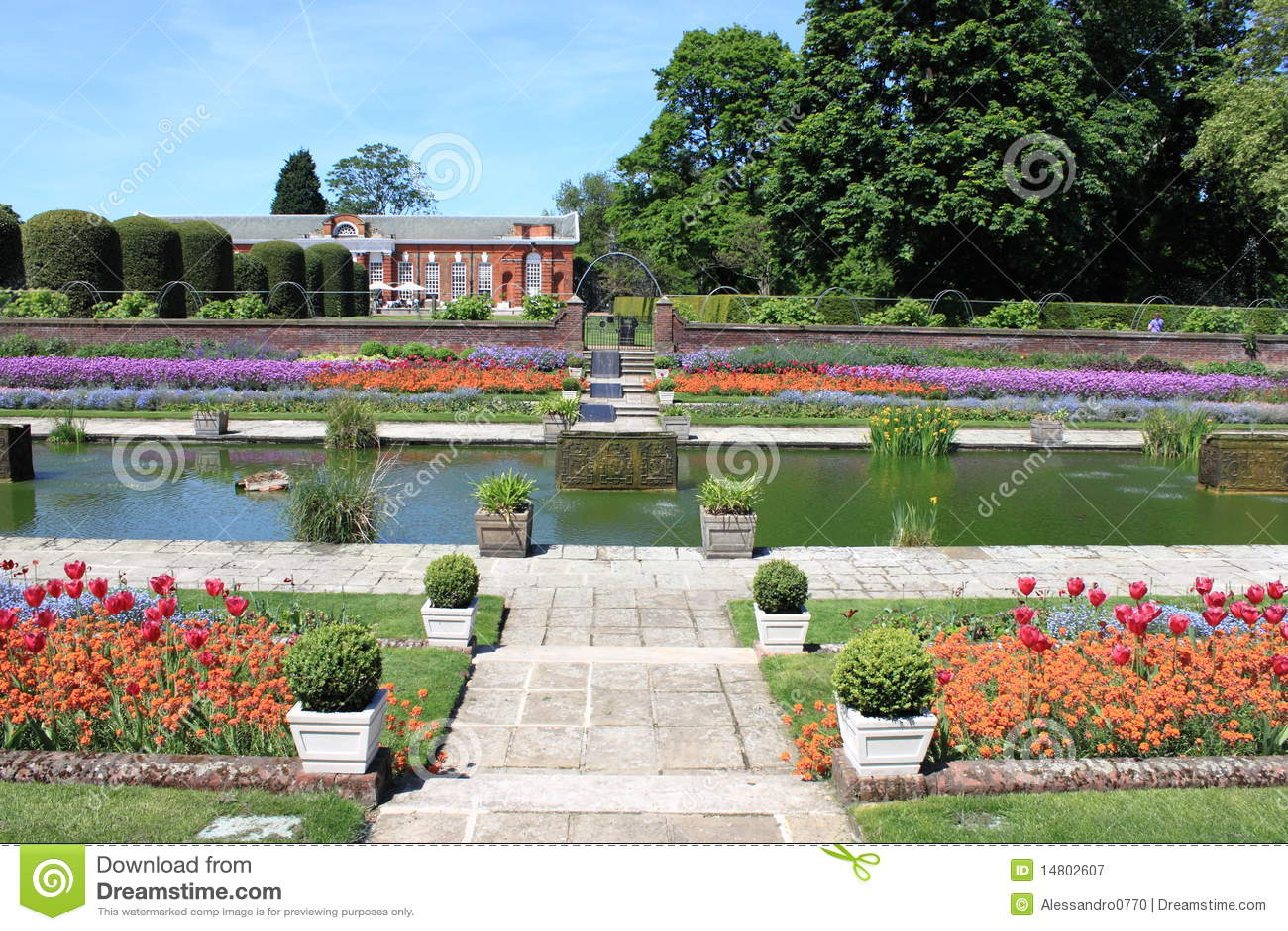 Jardines del palacio de kensington fotograf a de archivo for Jardines de kensington