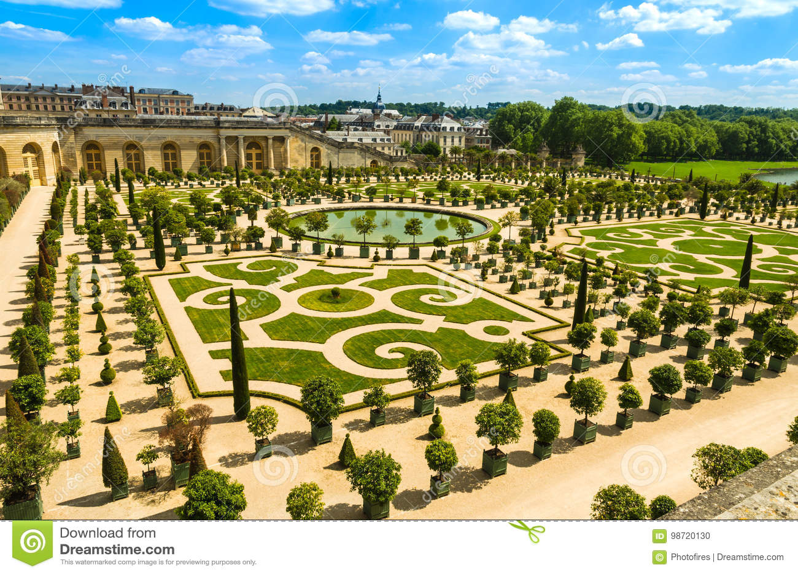 Jardines Del Palacio De Versalles Cerca De Paris Francia Foto De