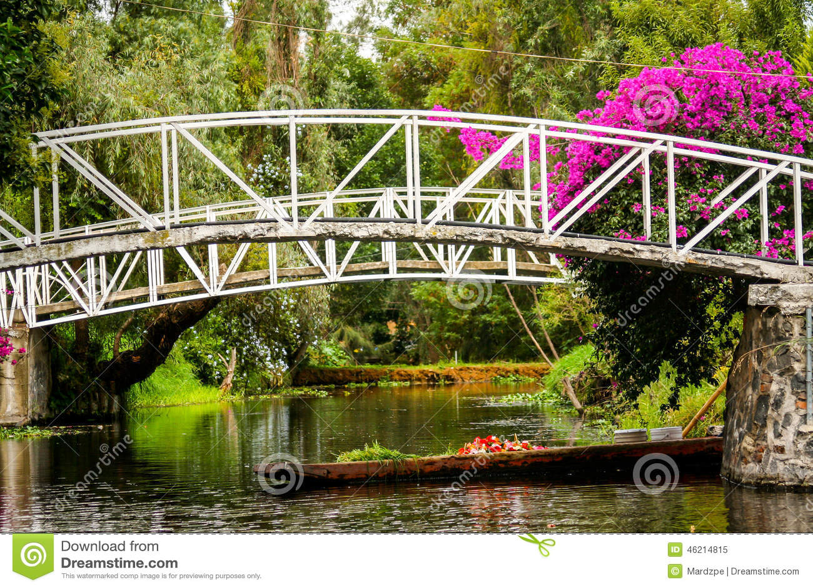 Jardines flotantes de m xico xochimilco colorido en ciudad for Jardin xochimilco