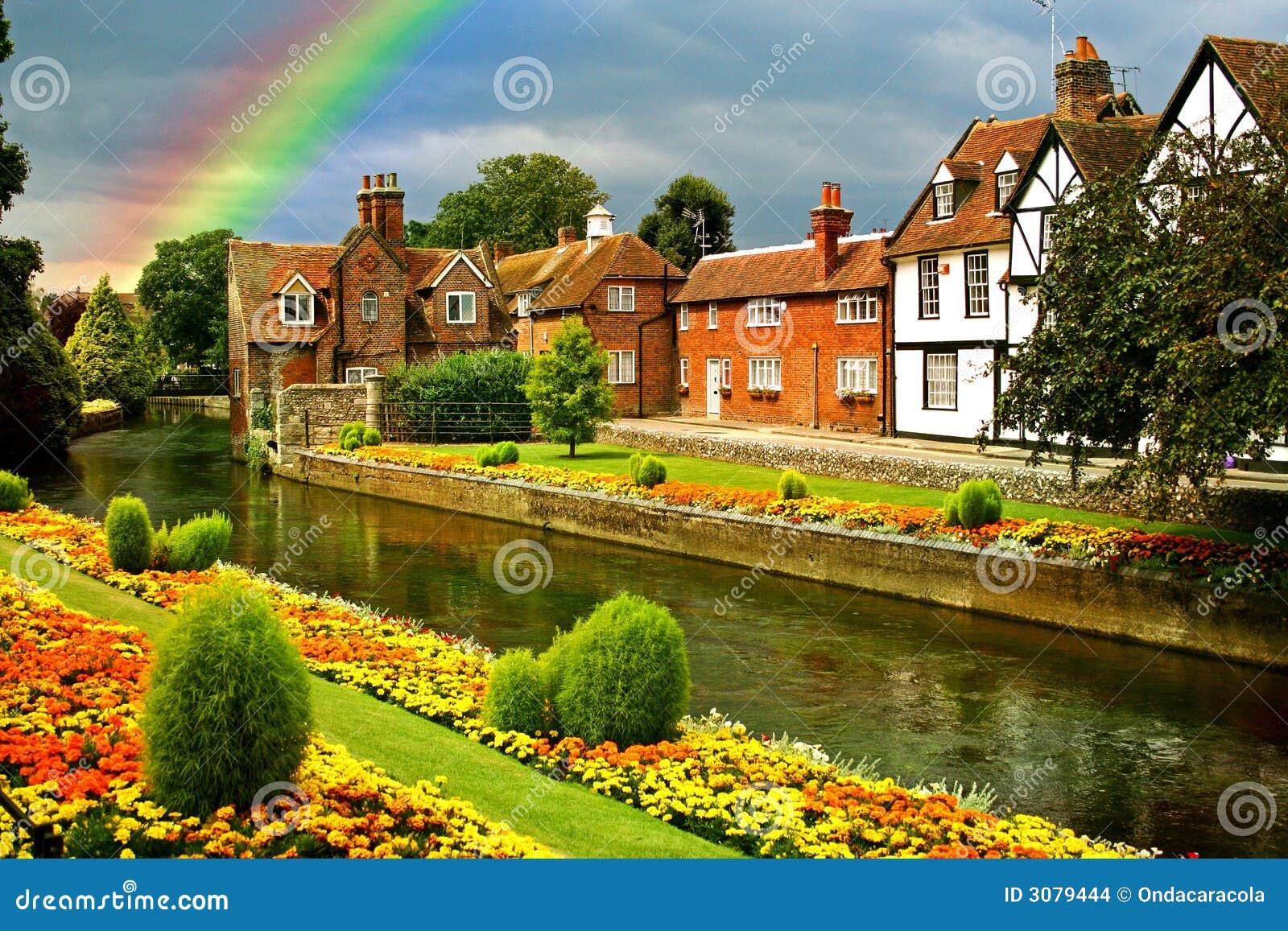 Jardines hermosos de la ciudad imagenes de archivo for Jardines hermosos para casas pequenas