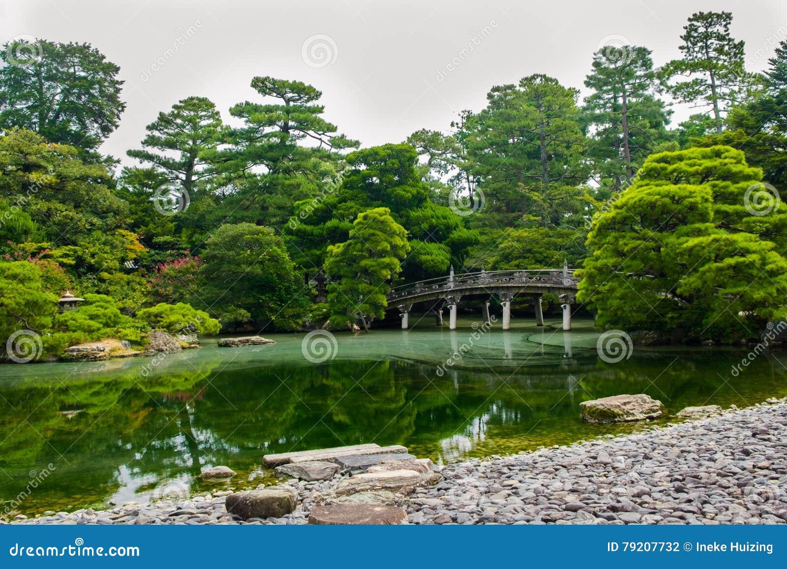 jardines japoneses kyoto japn foto de archivo