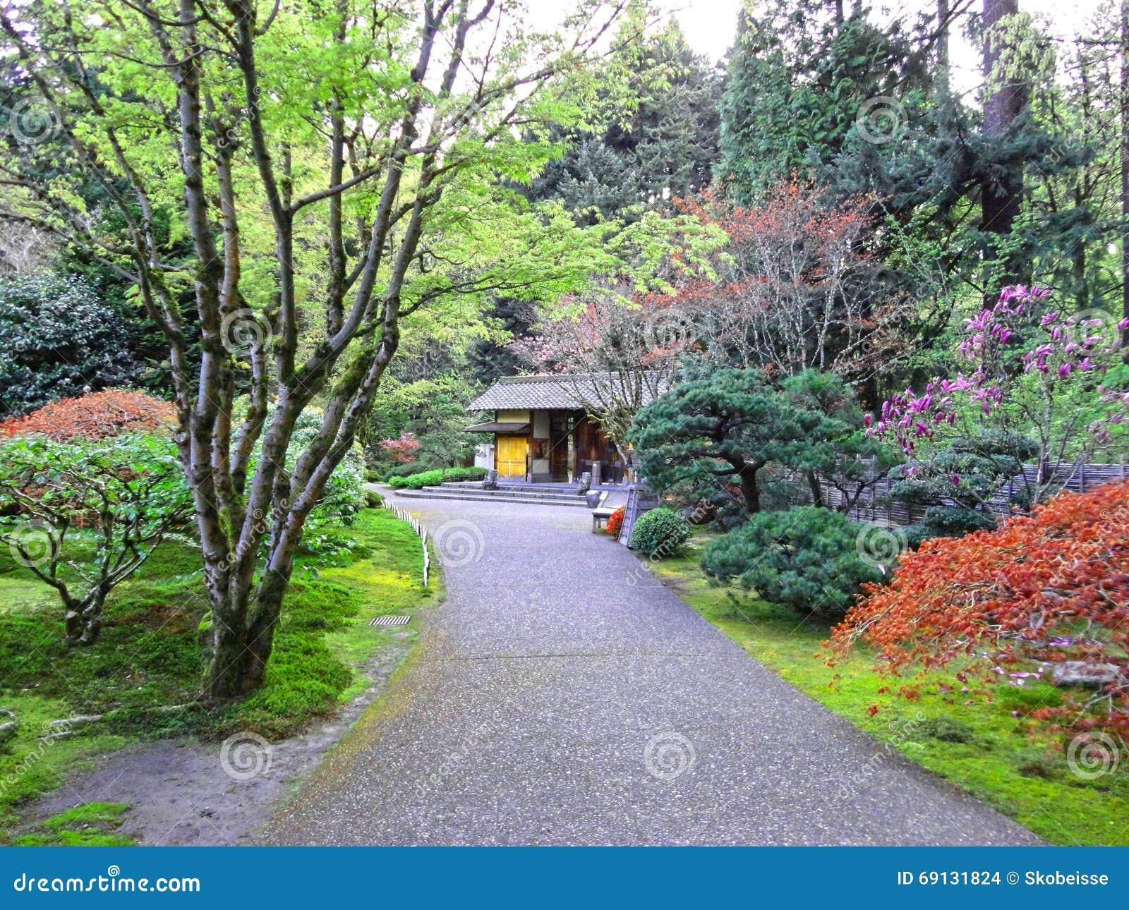 Jardines japoneses portland oregon foto de archivo - Fotos jardines japoneses ...
