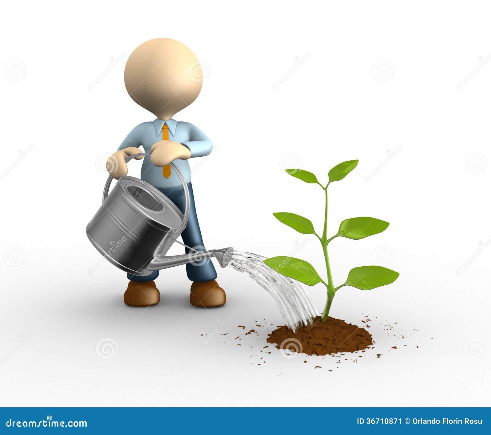 Jardinier illustration stock illustration du canette - Dessin jardinier humoristique ...
