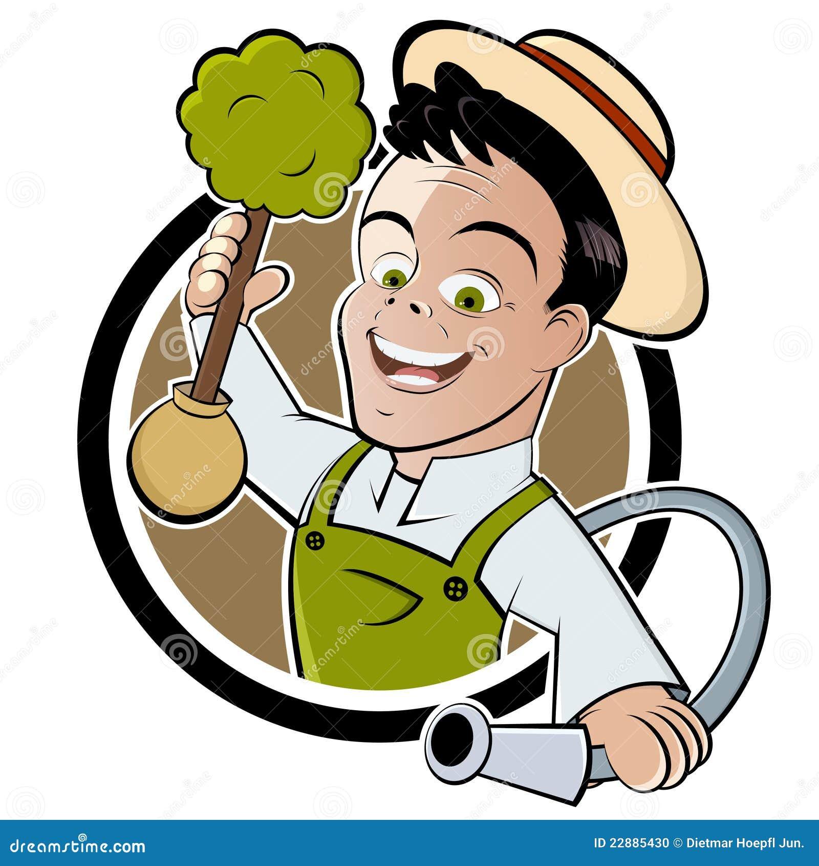 jardinier heureux de dessin anim illustration de vecteur illustration du yeux bouton 22885430. Black Bedroom Furniture Sets. Home Design Ideas