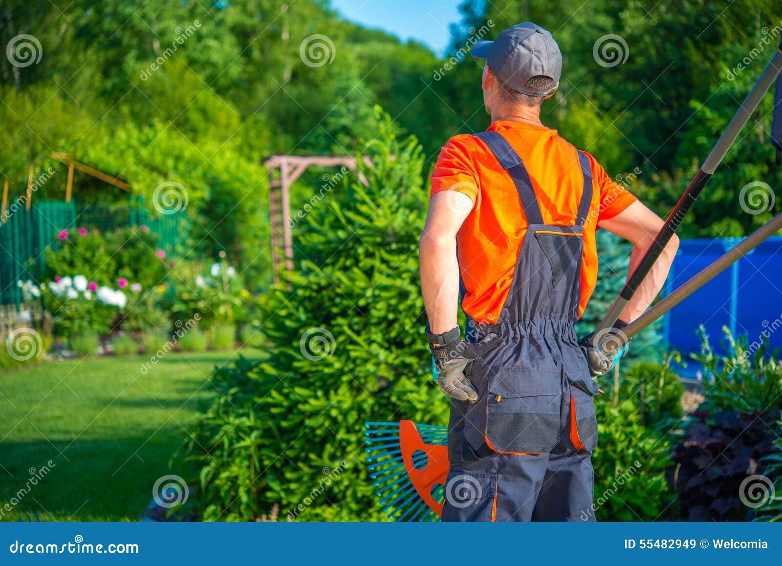 Jardinier prêt à fonctionner