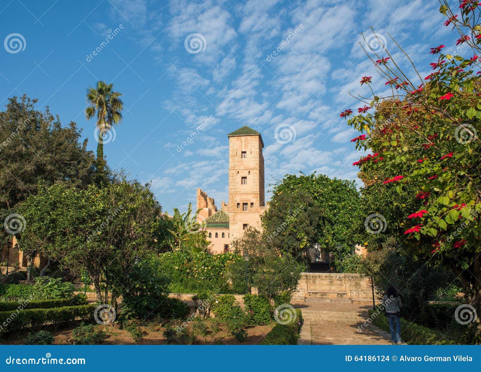 Jardins andaluzes no kasbah de Udayas rabat marrocos