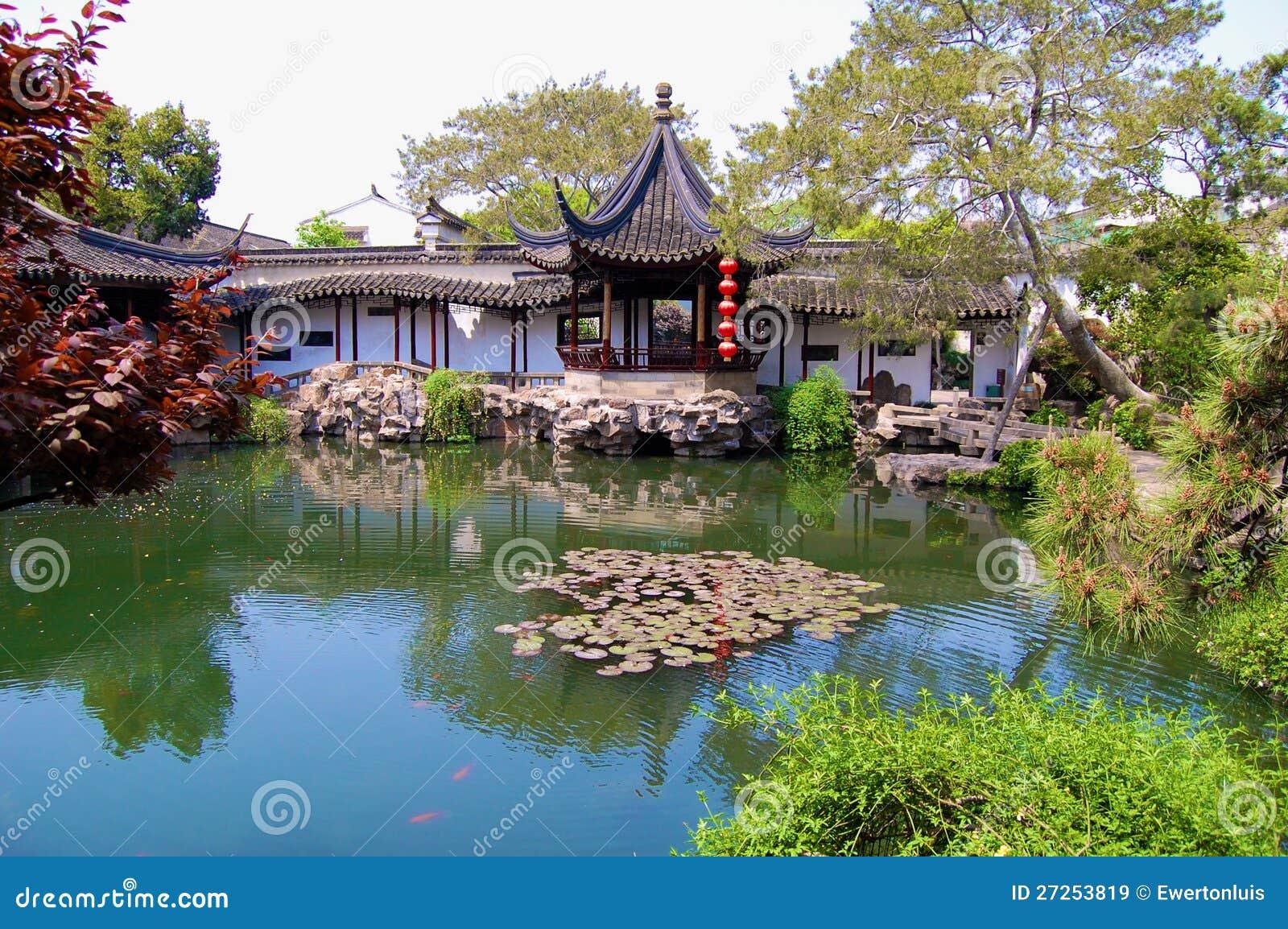 Jardins chineses imagens de stock royalty free imagem for Jardin de china