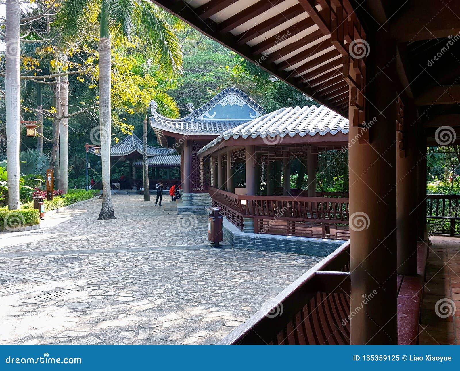 Jardins chineses e construções antigas
