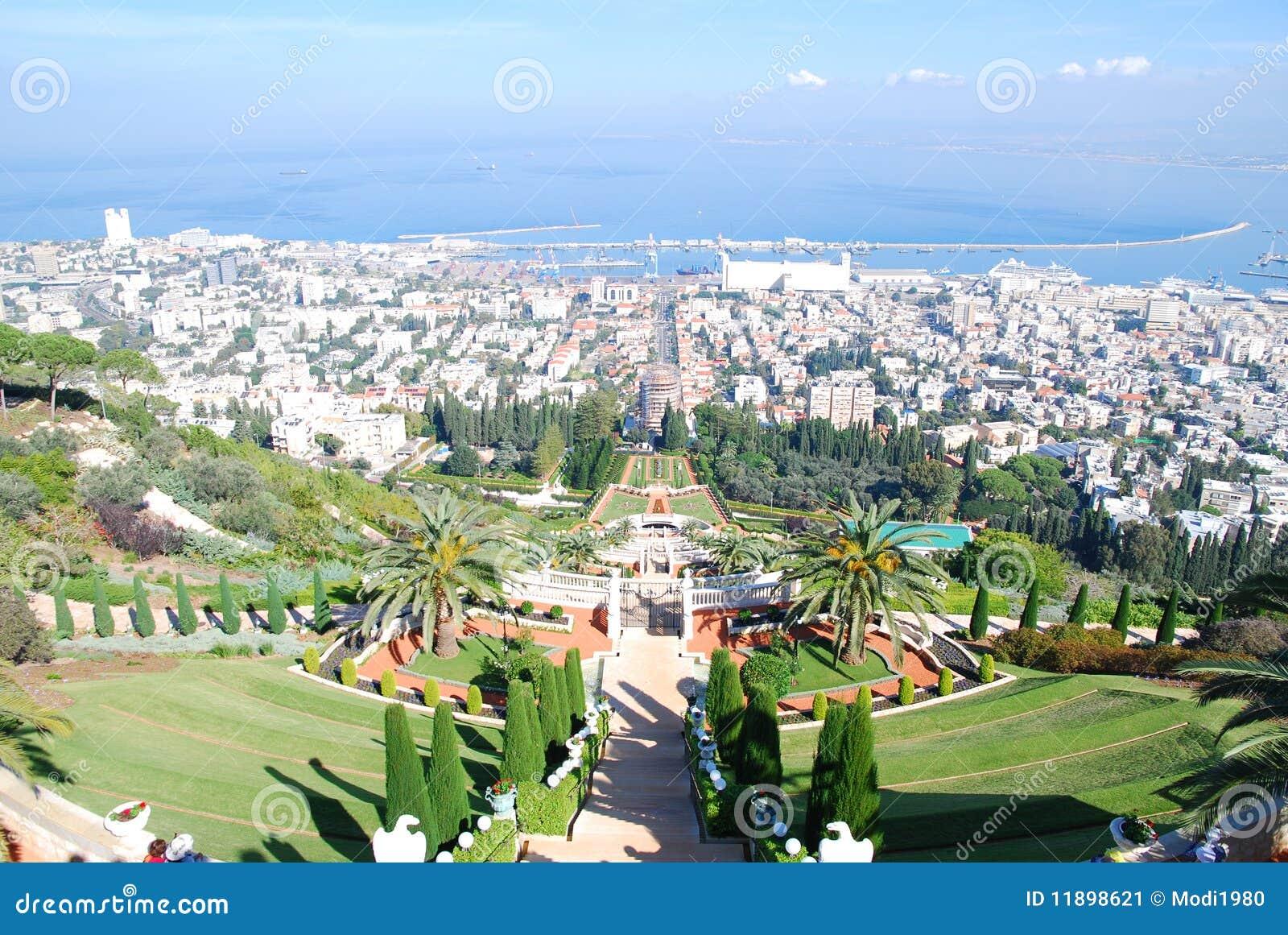 Jardins De Bahai Haifa Israel Imagem De Stock Imagem