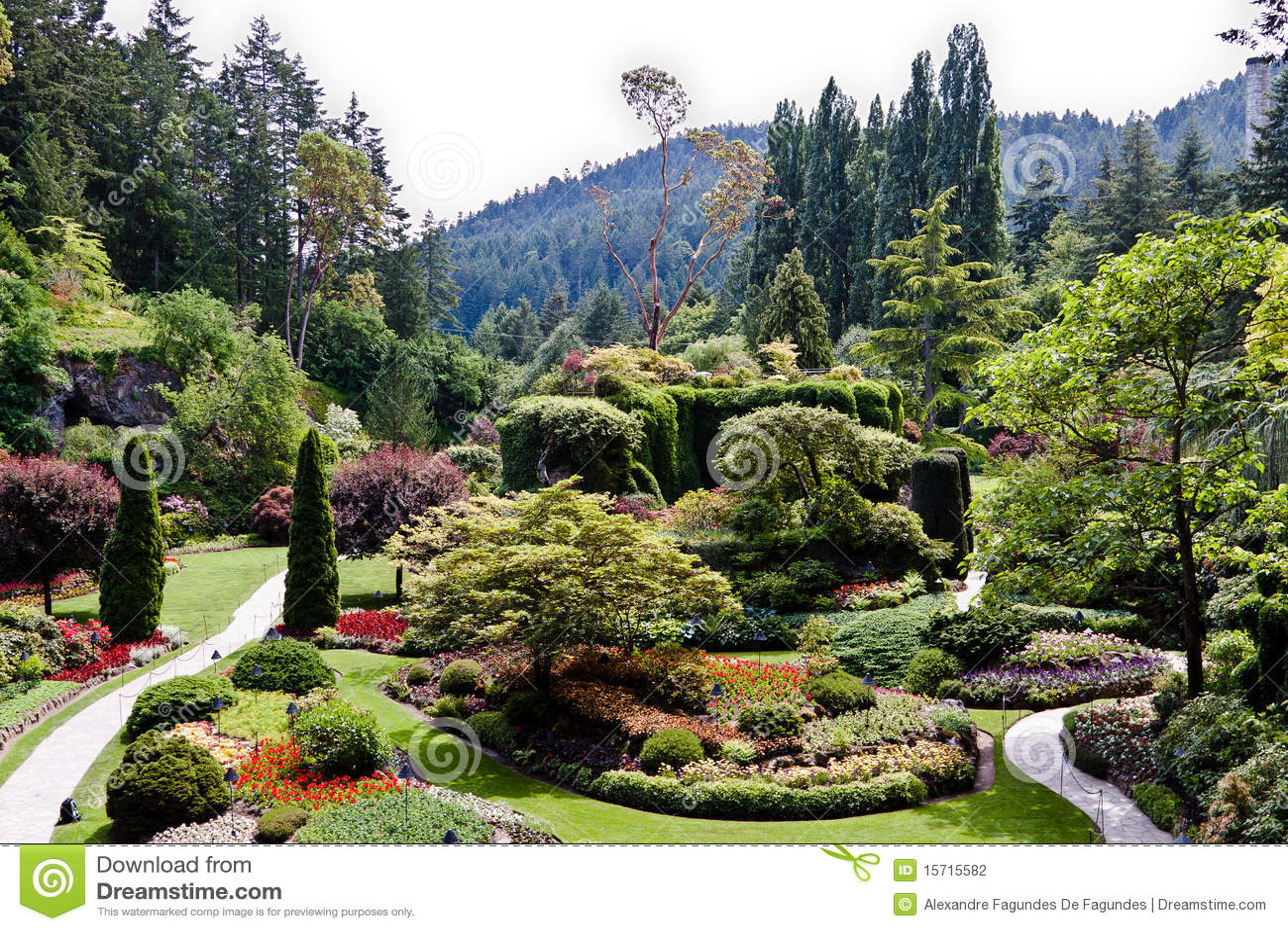 Jardins de butchart en le canada de vancouver for Jardines butchart