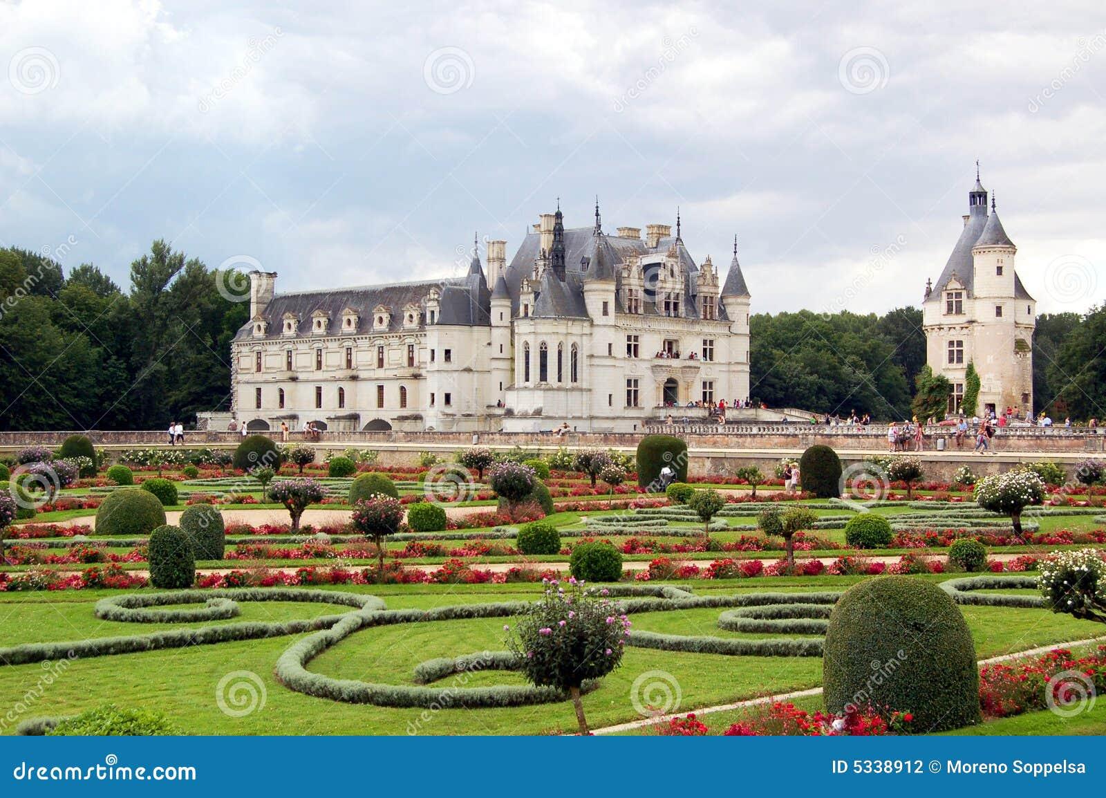 French Chateau House Plans Jardins De Chateau De Chenonceau Photo Stock Image Du