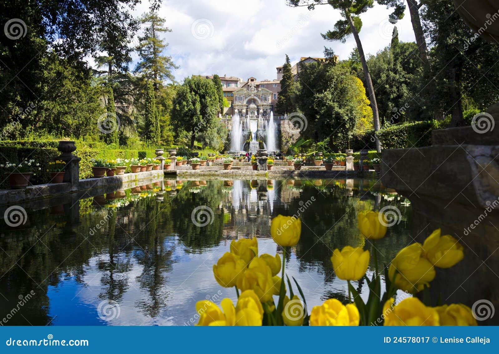 Jardins De D Este De Villa Tivoli En Italie Image Stock Image Du