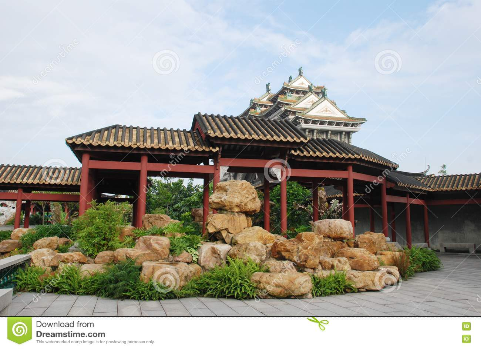 Jardins de rocaille chinois de jardin photos libres de for Conception jardin chinois