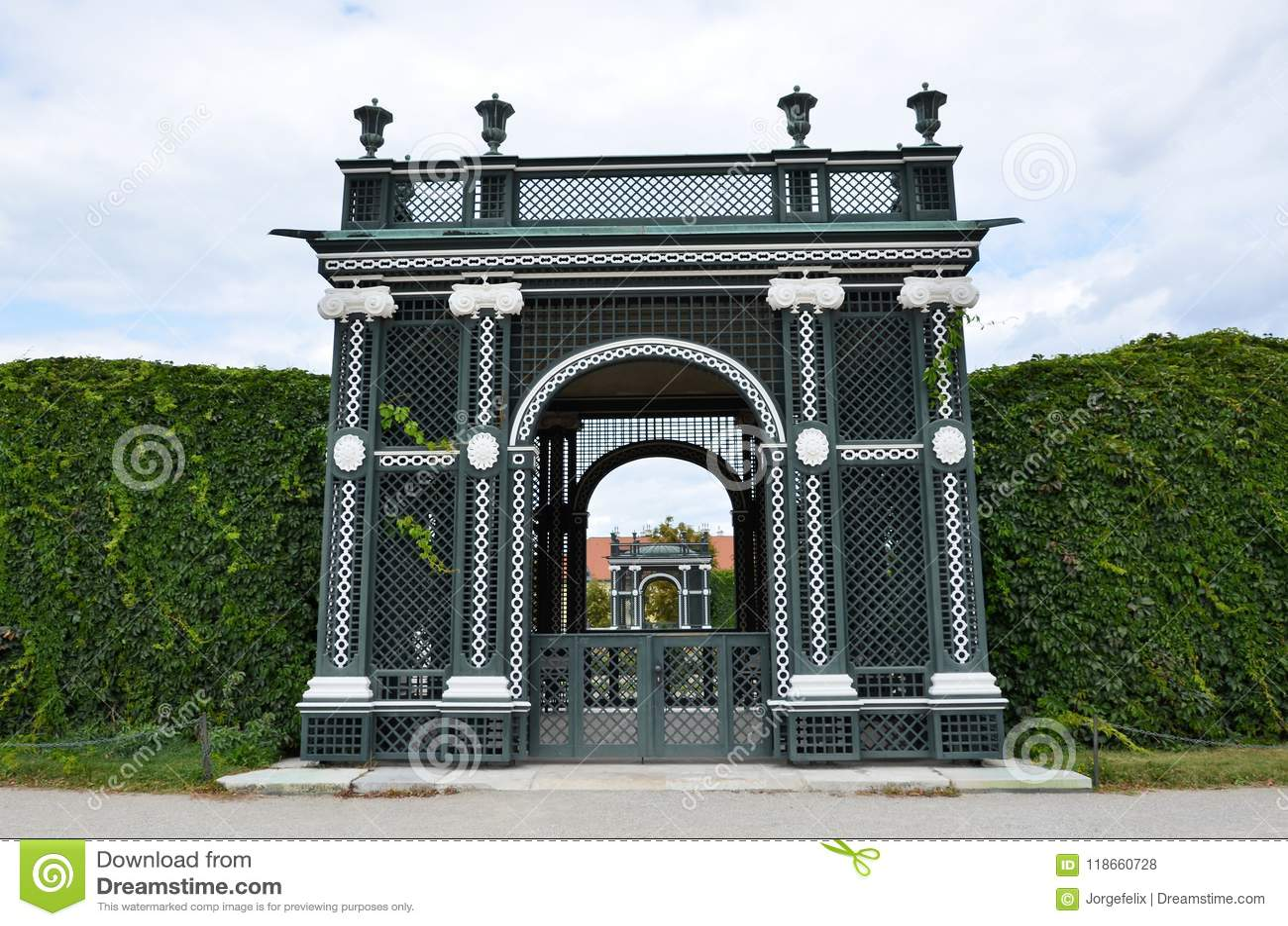 Jardins du palais impérial à Vienne