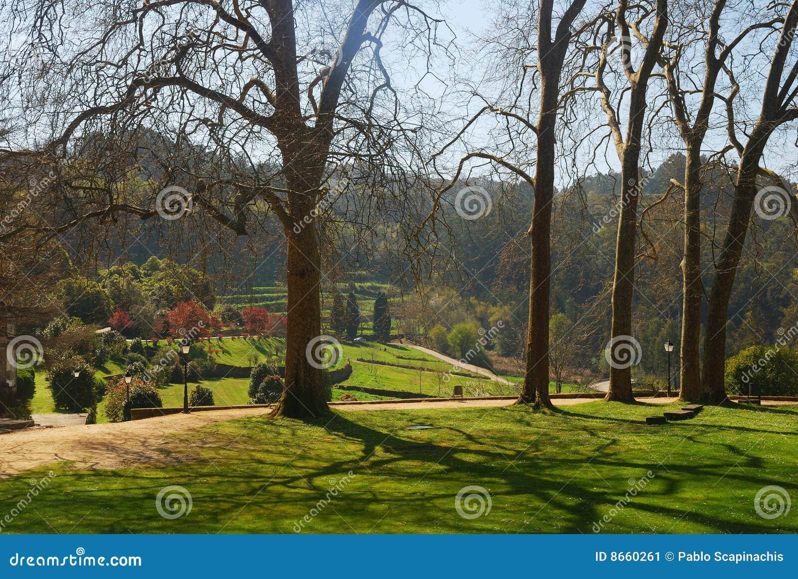 Jardins et chemin