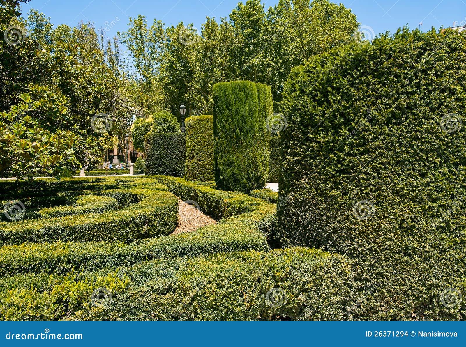 Jardins reais em Madrid