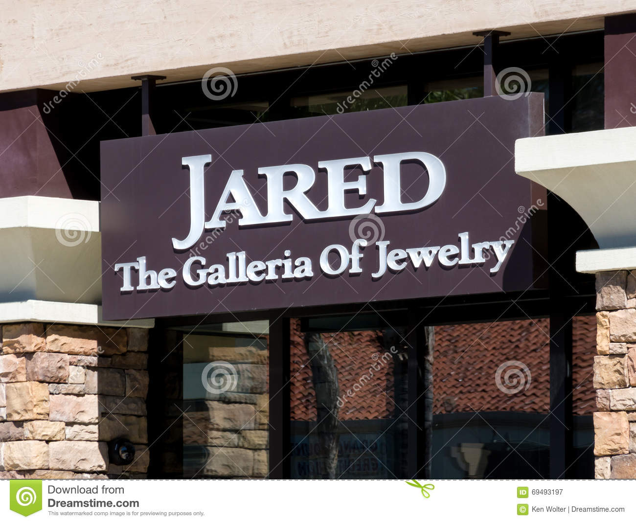 Jared jewelry store exterior and logo editorial for Jewelry store mission viejo