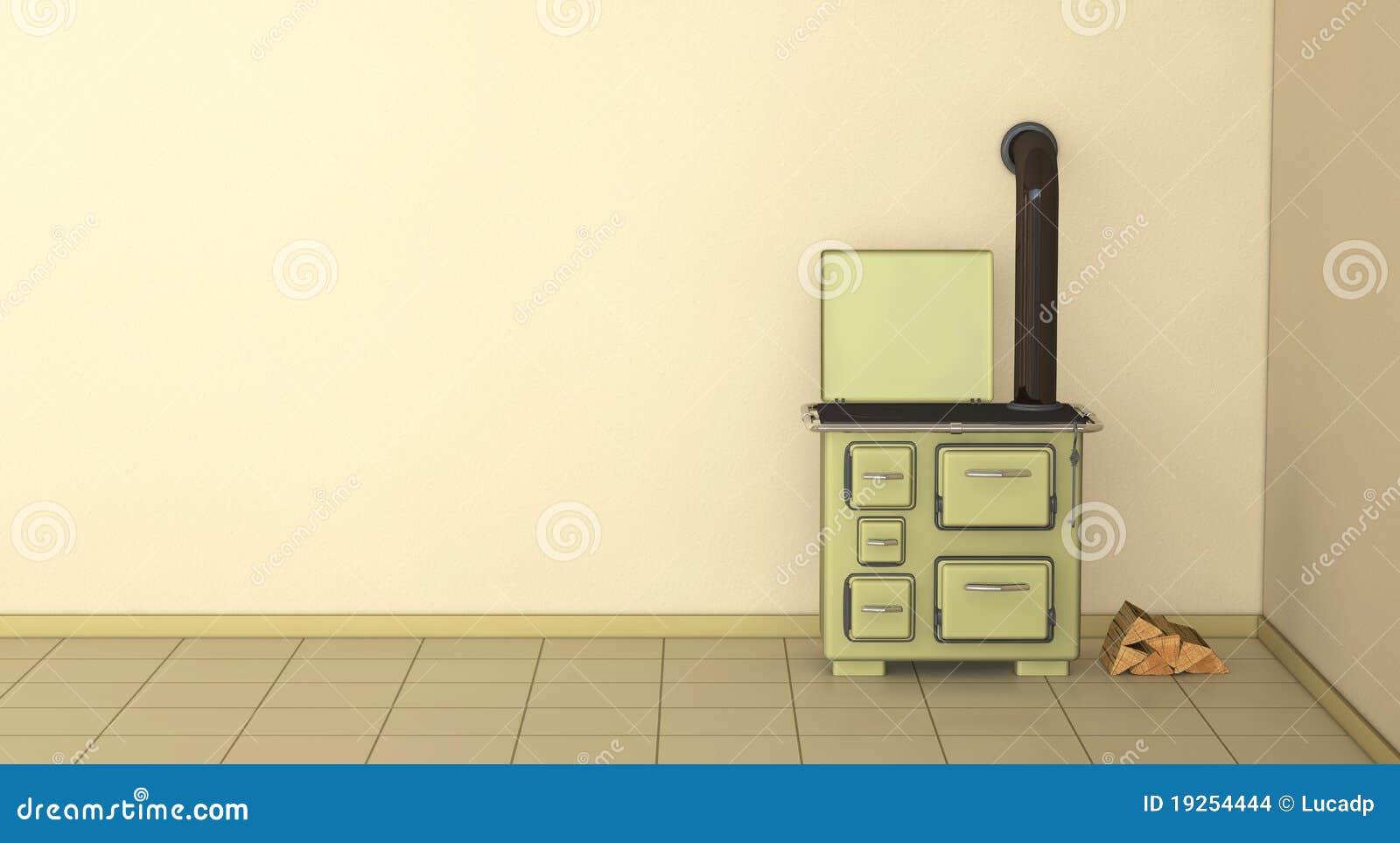 Jaren 50 Keuken : Jaren keuken stock illustratie illustratie bestaande uit