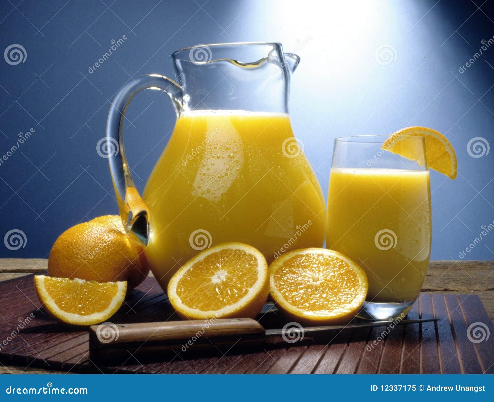 Jarra del zumo de naranja