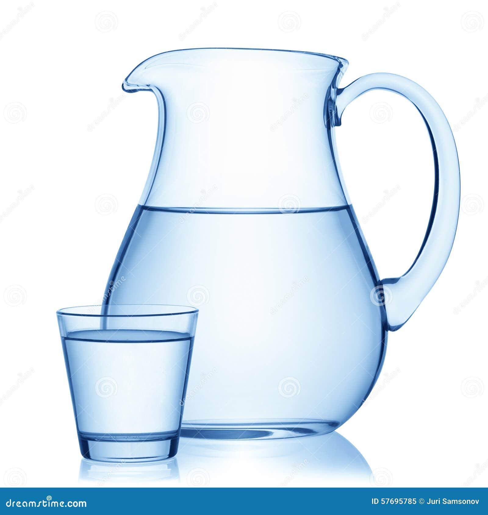 jarra y un vidrio de agua imagen de archivo imagen de