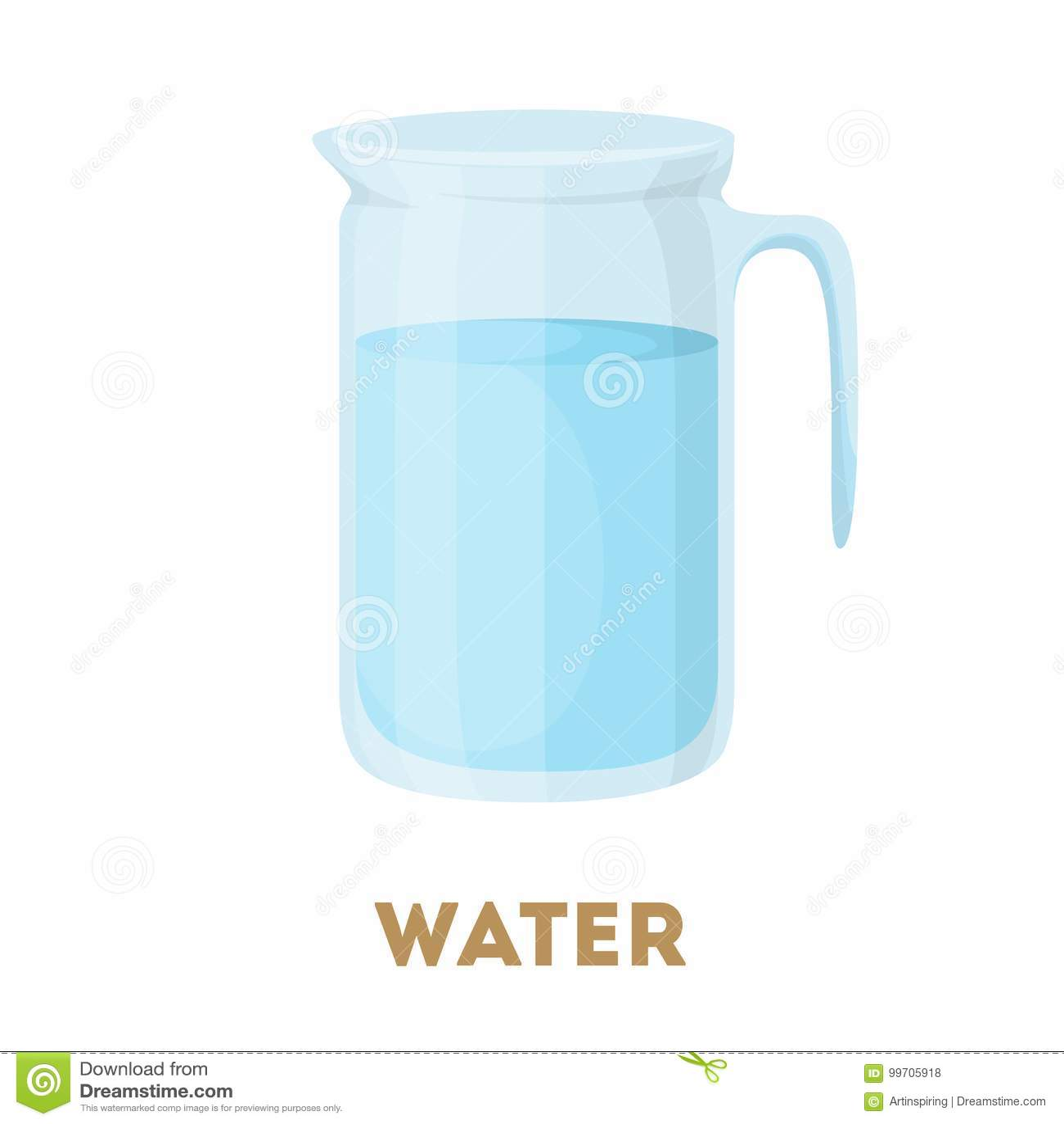 Jarro de água isolado