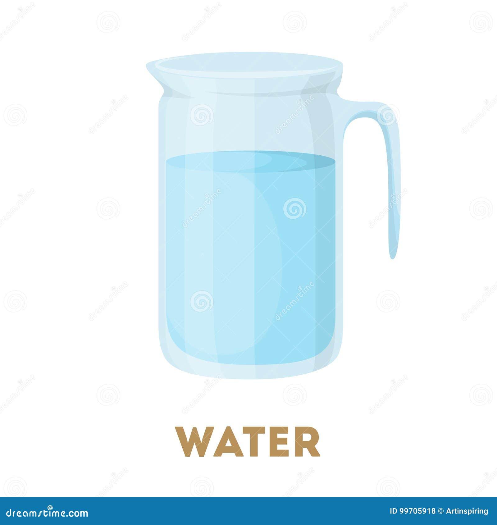 Jarro de agua aislado