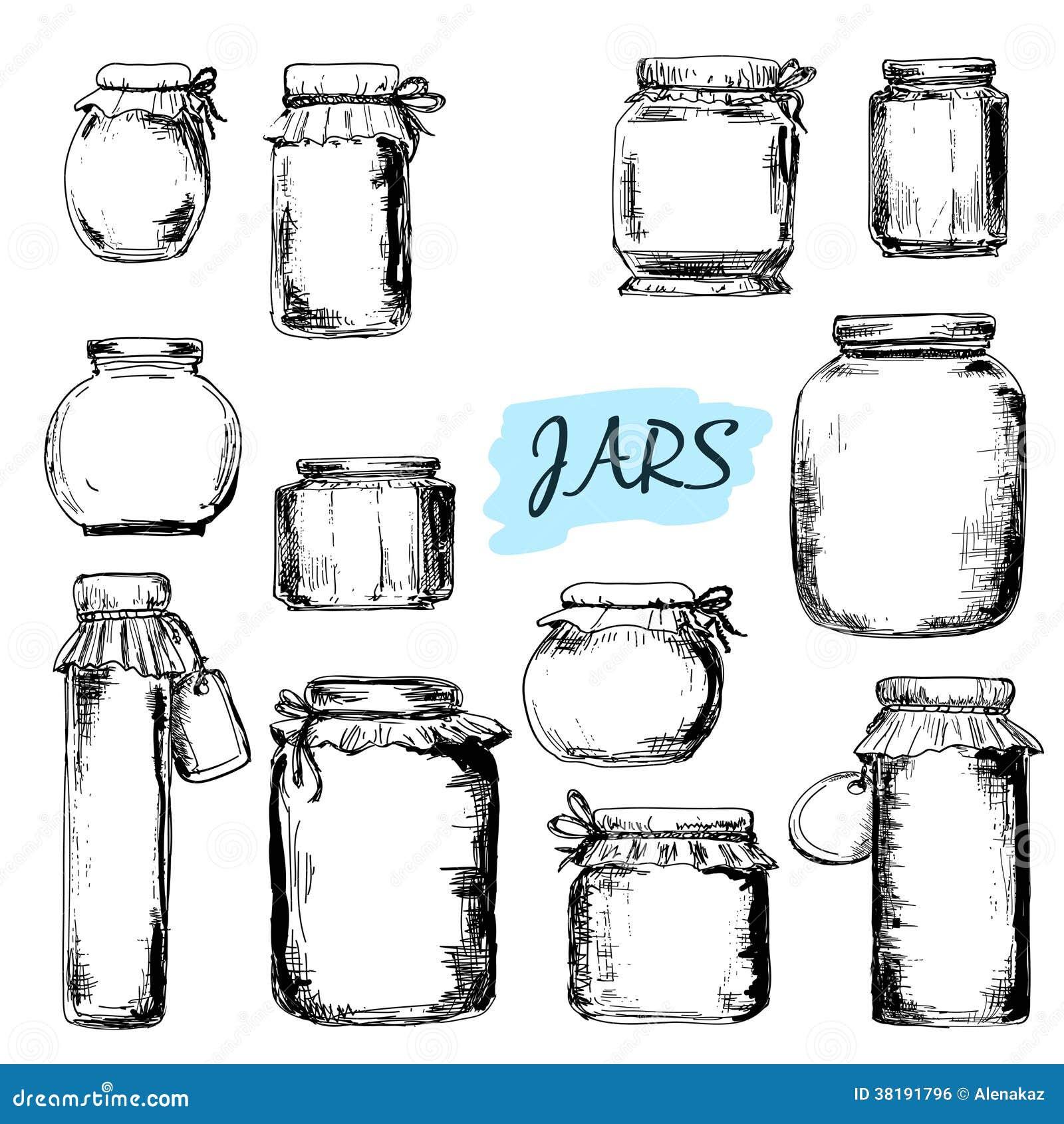 Jars. Set of illustrations