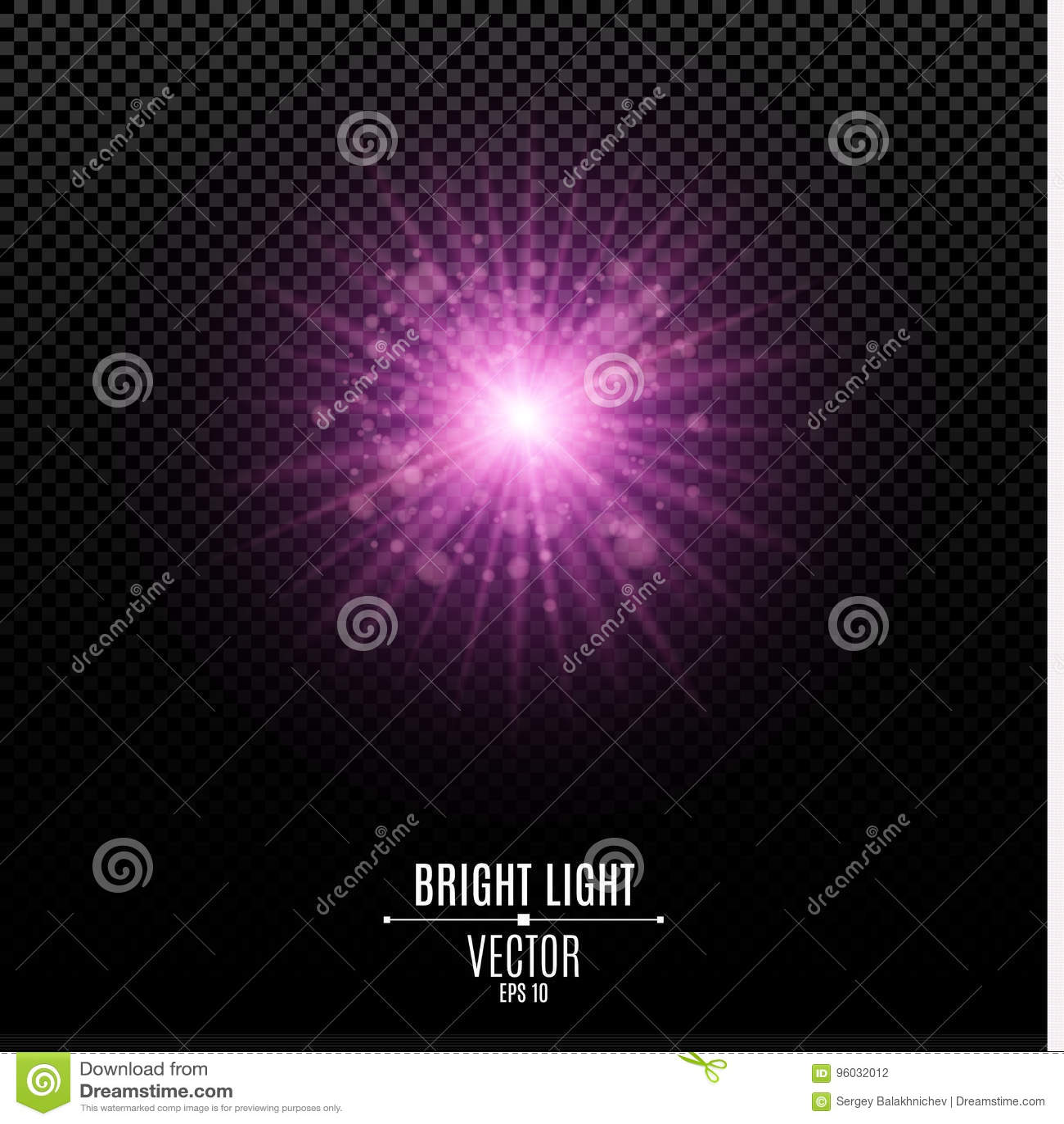 Jaskrawa gwiazda purpurowy kolor Purpura błysk światło Abstrakcjonistyczni purpur światła i promienie światło Świecenia bokeh