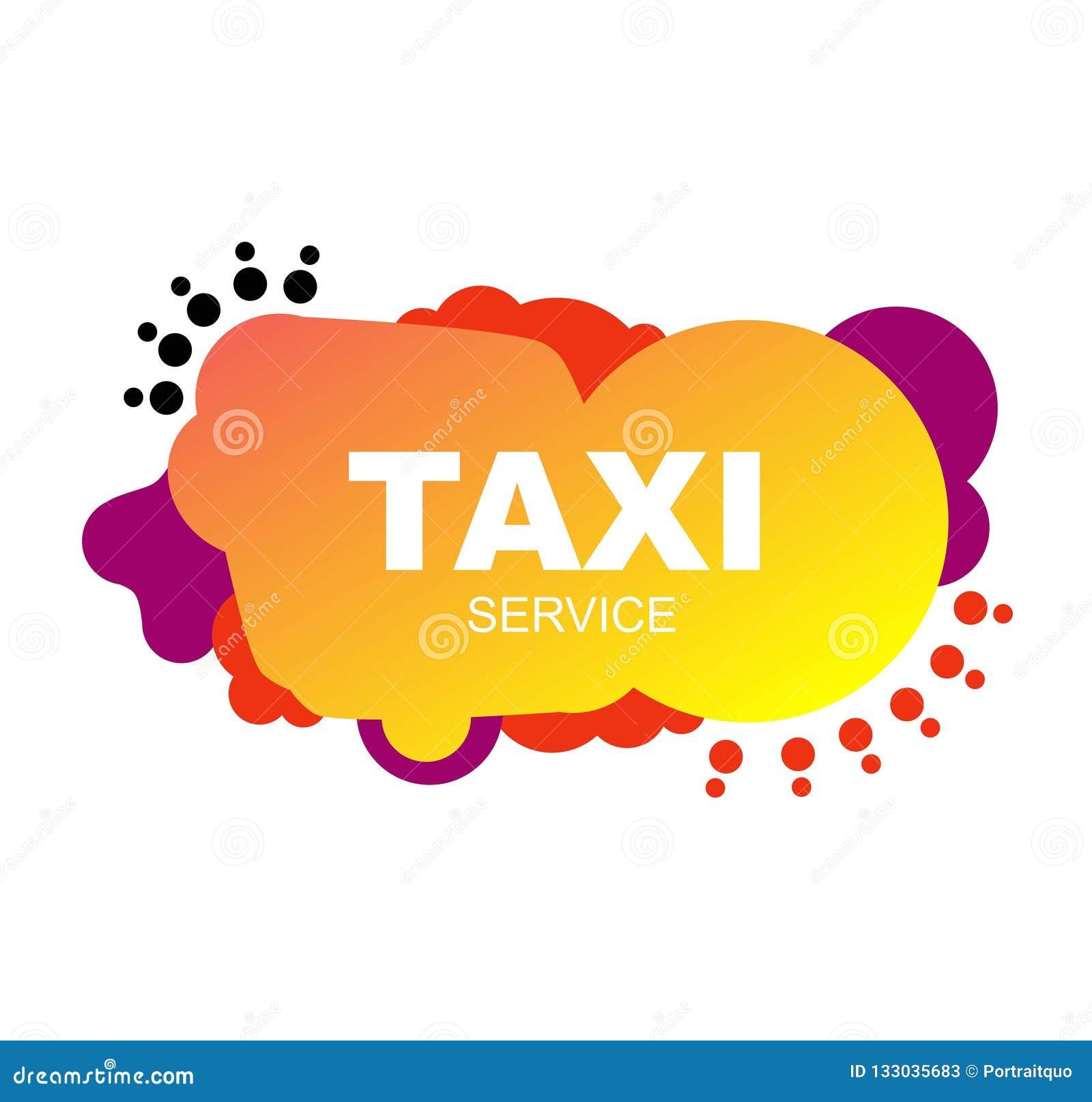 Jaskrawa ulotki taxi usługi naprawa abstrakcjonistyczni elementy