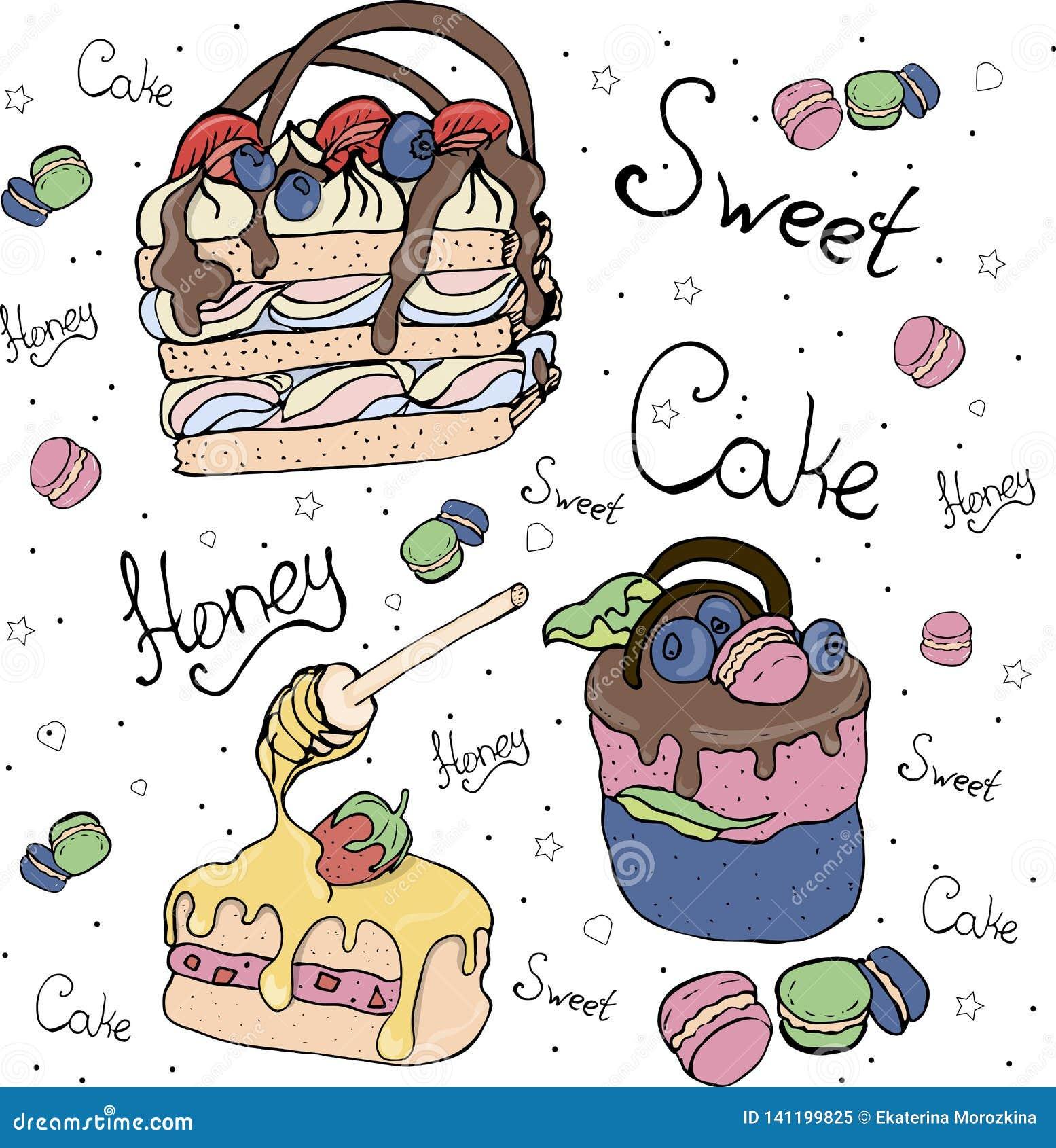 Jaskrawi fruitcakes i torty Tort
