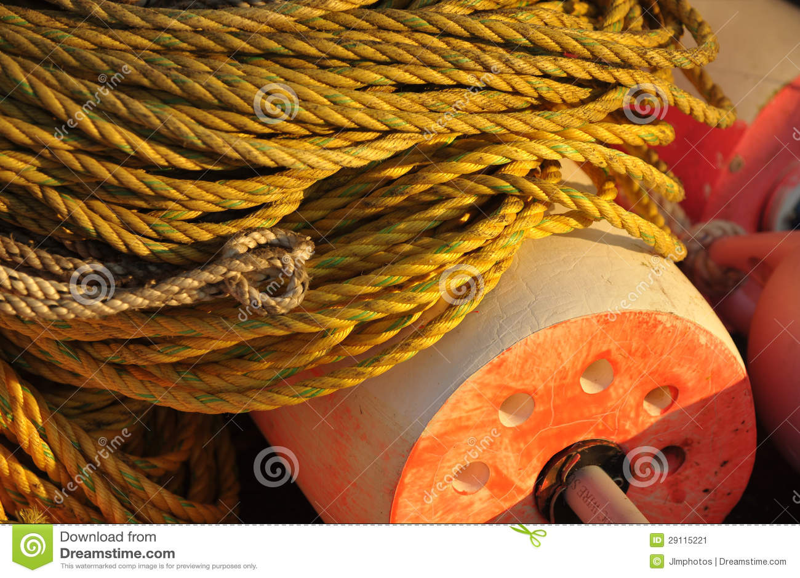 Jaskrawy Żółty arkany i homara pławik