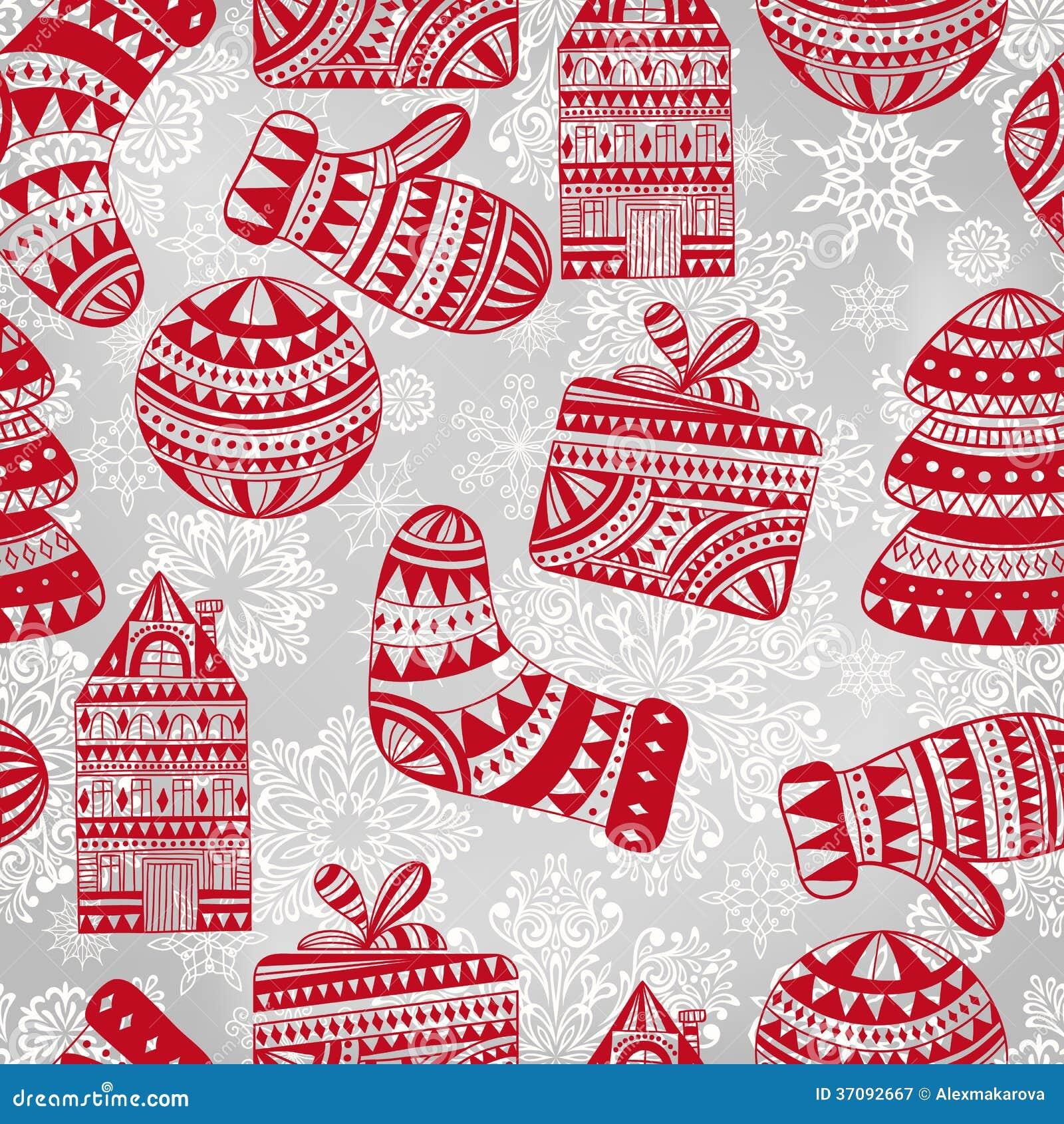 Download Jaskrawy Bezszwowy Zima Wzór Ilustracja Wektor - Ilustracja złożonej z kędzior, deere: 37092667