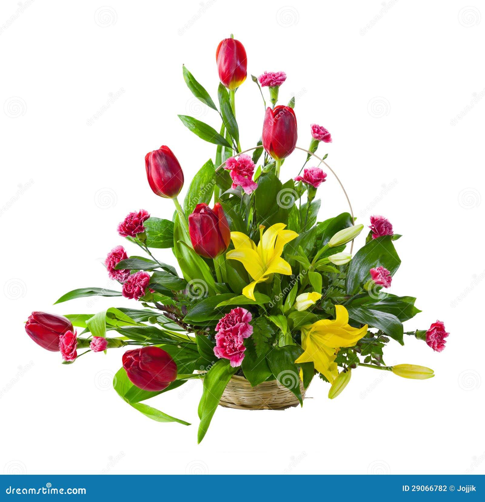 Świeże Jaskrawy Kwiatu Bukiet W Koszu Zdjęcie Stock - Obraz złożonej z HH23